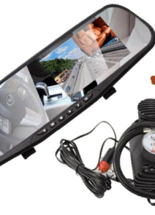 Регистратор-зеркало DVR-138 с камерой заднего вида + Автомобильны