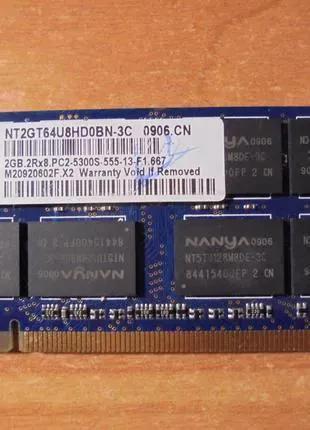 Оперативная память DDR2 2gb 2гб SODIMM для ноутбука