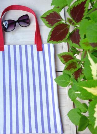 Сумка для покупок в полосу, эко сумка, торба, пляжная сумка, с...