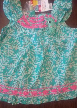 Платье, туника  du pariel 12 мес ( 74 см).