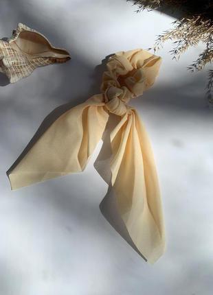 Резинка для волос с лентой, резинка твилли, лента на волосы