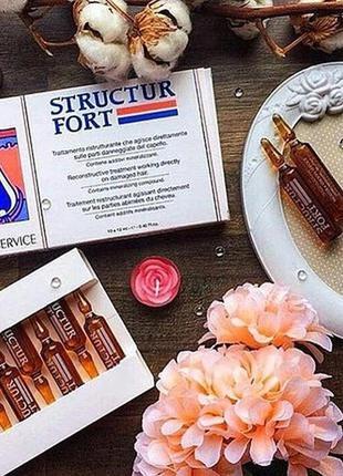 Восстановление и укрепление корней волос dikson structur fort