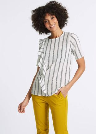 Блуза с воланом от m&s collection