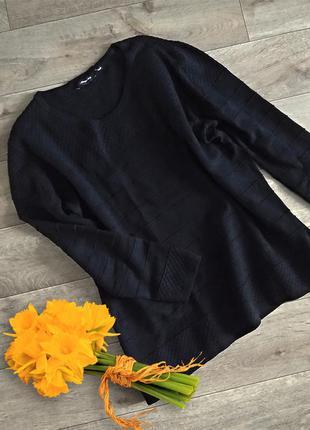 Черный свитер оверсайз, джемпер, кофта