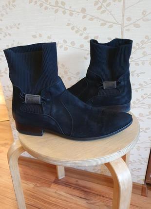 Демисезонные ботинки полусапоги экозамш 43р