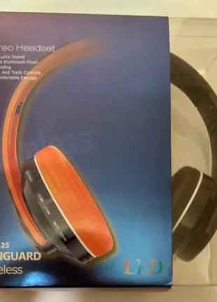 Беспроводные Bluetooth блютуз наушники с подсветкой, МП3 Плеер
