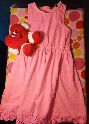 Яркое платье для девочки р 116-122