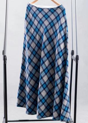 Шерстяная самосшитая юбка