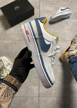 Кроссовки Nike Air Force 1 Swoosh Chain Pack White.