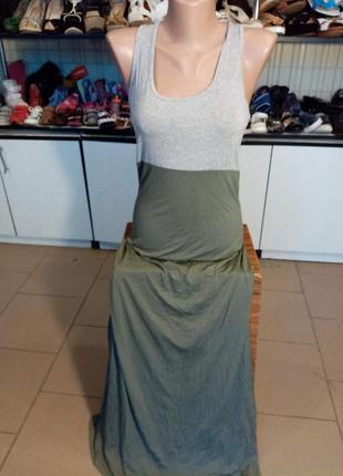 Женское платье в пол трикотаж р 42-44