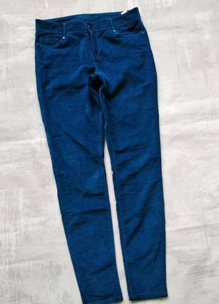 Вельветовые брюки m&s indigo collection  р. 12