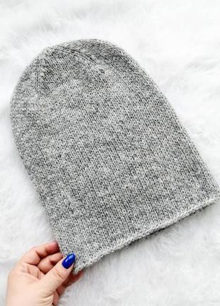 Шикарная шапка бини из итальянской альпаки