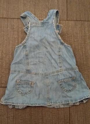 Сарафан джинсовый benetton на девочку до года