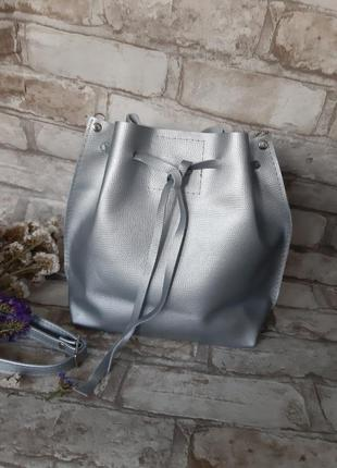 Кожаная сумочка мешок