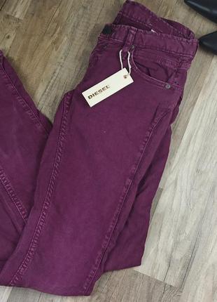 Новые яркие джинсы скинни diesel 26/32