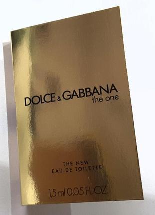 Пробник 1,5 мл туалетной воды dolce&gabbana the one eau de toi...