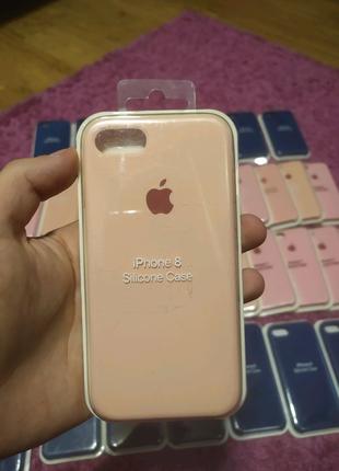 Чехол Silicone Case Iphone 7/8 Blue Rose