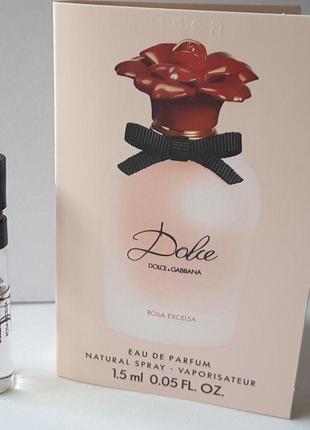 Пробник парфюмированной воды 1,5 ml,dolce&gabbana dolce rosa e...