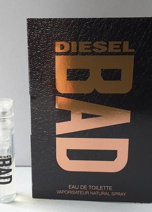Пробник туалетной воды 1,2 ml diesel bad,
