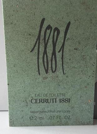 Пробник туалетной воды 2,0 мл cerruti 1881 pour homme, франция