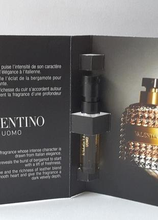Пробник туалетной воды 1,5 мл valentino valentino uomo, италия