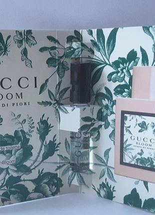Пробник туалетной воды 1,5 мл gucci bloom acqua di fiori,