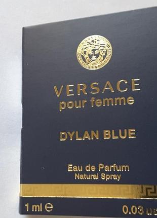 Пробник парфюмированной воды 1,0 мл, versace pour femme dylan ...