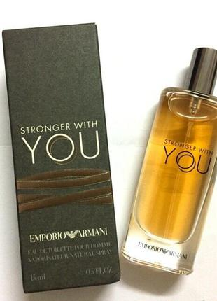 Туалетная вода giorgio armani stronger with you 15мл