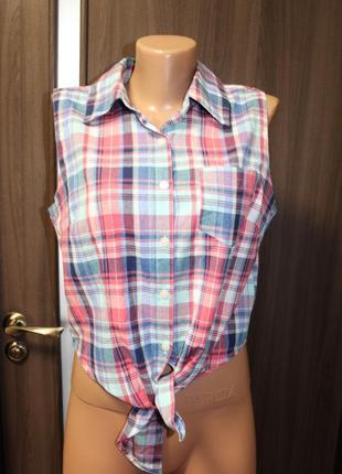 Новая хлопковая блузка boohoo размер l