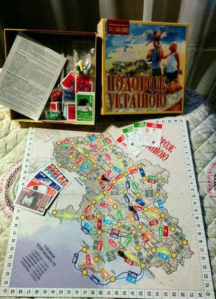 Настільна гра Подорож Україною настольная игра для всей семьи