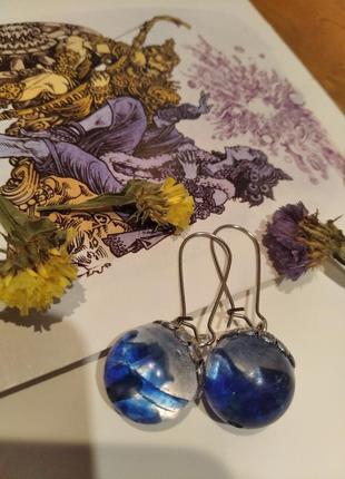 Серьги с цветами ручной работы( три разные пары)