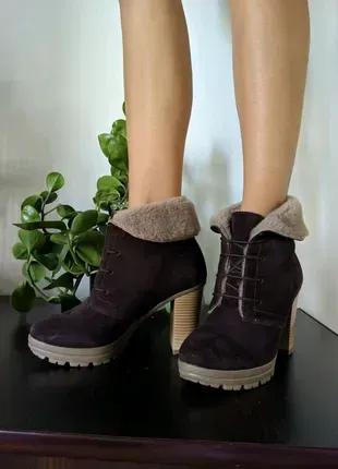 Продам зимнюю обувь, ботильоны на каблуке, сапожки на каблуке