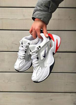 Шикарные женские кроссовки nike m2k tekno белые