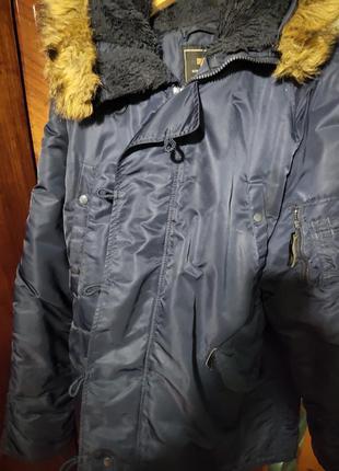 Зимняя парка,куртка alpha industries n-3b