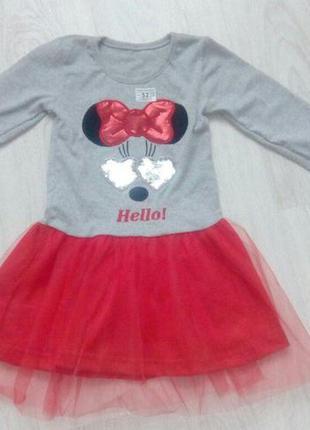 Нарядное платье для девочки 3 года с пайетками