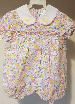 Ромпер комбинезончик летний нарядный платье для девочки 18м 74см