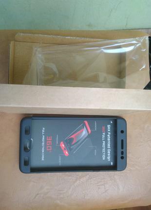 Чехол Samsung J7 max макс Черный пластик 360 бампер