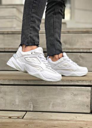 Трендовые женские кроссовки nike m2k tekno белые