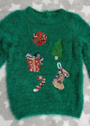 Новый новогодний джемпер waikiki пушистая кофта свитер
