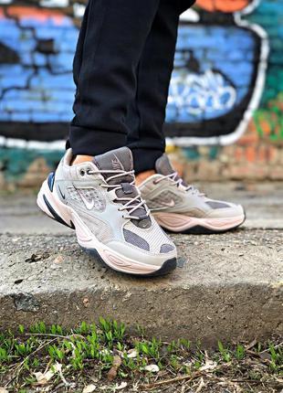 Крутые женские кроссовки nike m2k tekno серые
