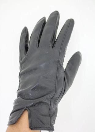 Мужские кожаные  перчатки теплые