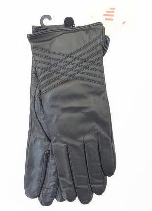 Перчатки из натуральной кожи теплые