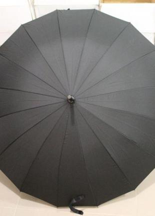 Зонт-трость полуавтомат, мужской, 16 спиц