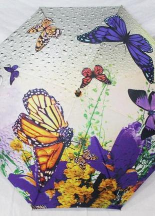Зонт женский трость  полуавтомат, 8  спиц, эпонж