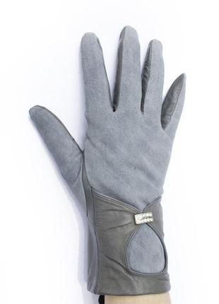 Женские перчатки ( кожа и замш)