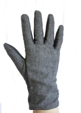 Женские перчатки  кожа ( комбинированные)