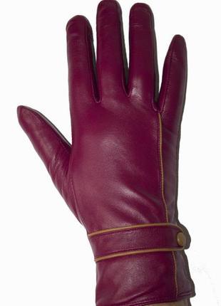 Женские перчатки  кожа на меху