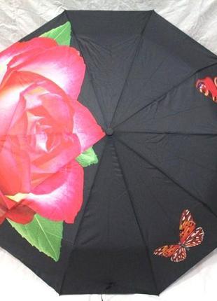 Зонт женский антиветер полуавтомат эпонж
