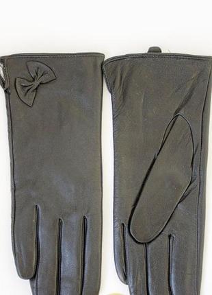 Кожаные женские перчатки мех!!