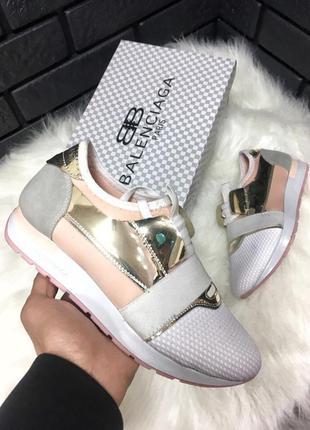 Нереальные женские кроссовки balenciaga белые